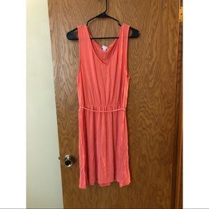 Super soft coral colored midi dress